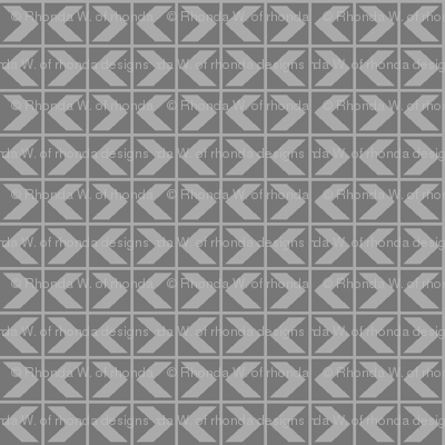 ChevronDarts - Light Grey on Dark Grey