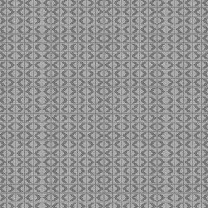 Chevron Darts - Dark Grey on Light Grey