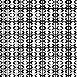 Chevron Darts - Black on White
