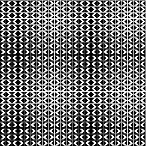 Chevron Darts - White on Black fabric by rhondadesigns on Spoonflower - custom fabric