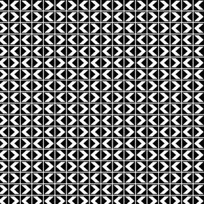 Chevron Darts - White on Black