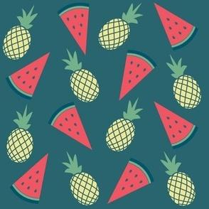 pineapple melone  fruit salad