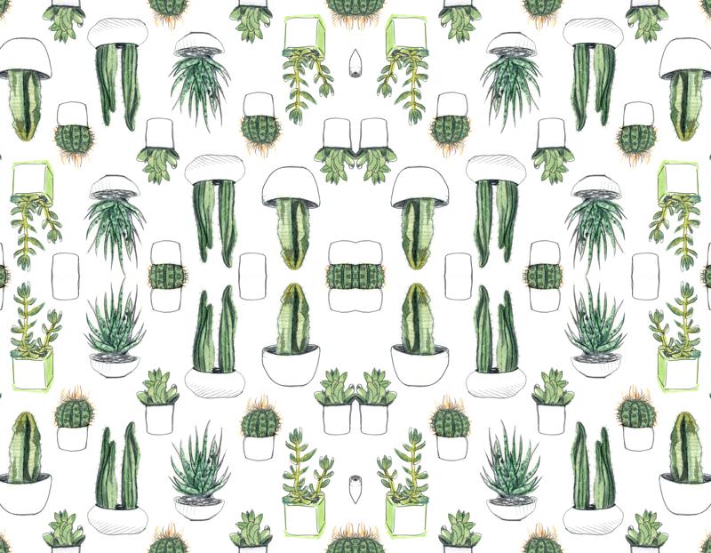 Plant Party Print | Houseplants, Cacti and Plants