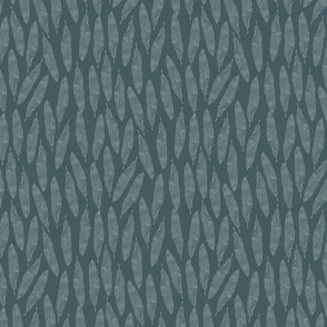 Feathers on Dark Green