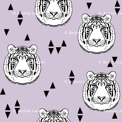 Tiger - White/Lavender by Andrea Lauren