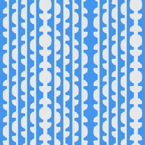 Topiary Stripe   -10% Grey and 6495ed Blue