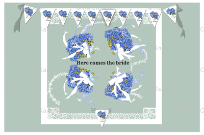 Here Comes The Bride placemat