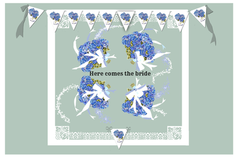 Here Comes The Bride placemat fabric by karenharveycox on Spoonflower - custom fabric