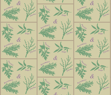 Scarborough Fair Herb Garden fabric by tictactogs on Spoonflower - custom fabric