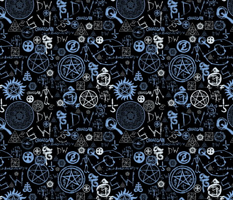 Supernatural Symbols fabric by tag_graphics on Spoonflower - custom fabric