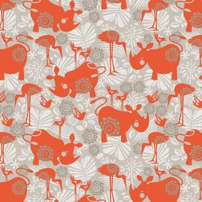 happy orange rhinos