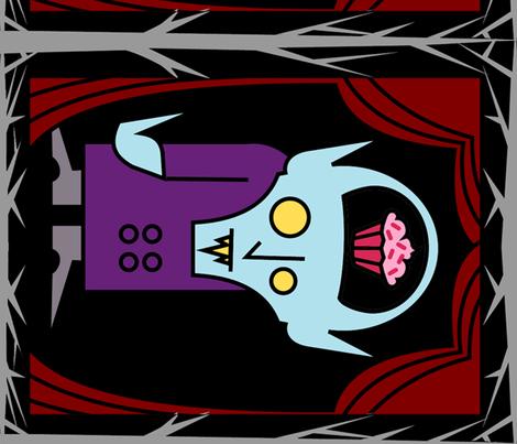 CUSTOM-Secret Life of Nosferatu XLarge fabric by thirdhalfstudios on Spoonflower - custom fabric
