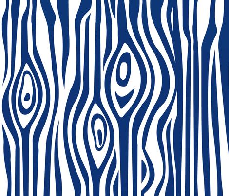 CUSTOM-Mod Grain - Navy & White stripe fabric by thirdhalfstudios on Spoonflower - custom fabric