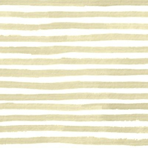 Neutral Tan Watercolor Stripes Large