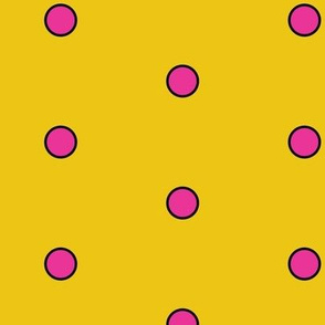 Polka Dots - Yellow/Pink