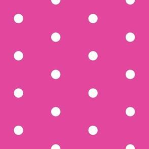 Polka Dots - Pink/White