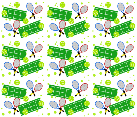 Tennis Match fabric by pumpkinbones on Spoonflower - custom fabric