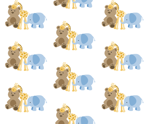 Baby jungle theme fabric sew delightful spoonflower for Baby themed fabric