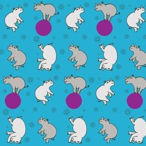 Tumble Rhinos Blue