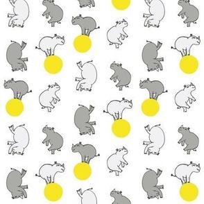Old Rhinos New Tricks Yellow Ball White