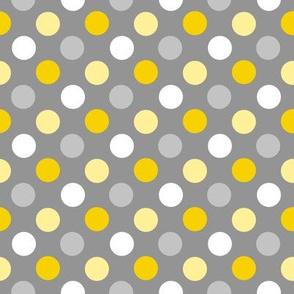 gray yellow dot