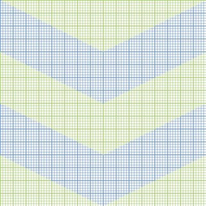 green chevron graph paper