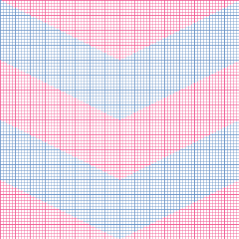 pink chevron graph paper fabric by weavingmajor on Spoonflower - custom fabric