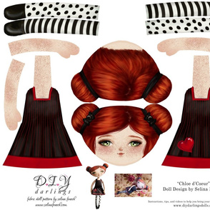 Cut and Sew Doll Pattern Chloe d'Coeur