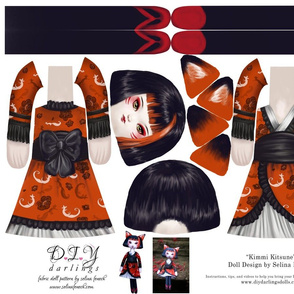 Cut and Sew Kitsune Doll