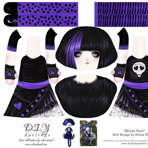 Cut and Sew Goth Doll Melody Dark