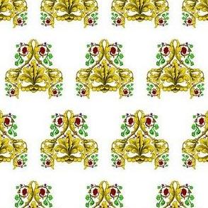 Fleur De Lis and Roses