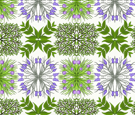 herb garden fabric by little_touch_of_green on Spoonflower - custom fabric