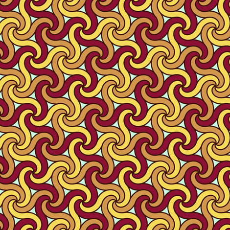 03321551 : spiral 6x3 : worms for birds fabric by sef on Spoonflower - custom fabric