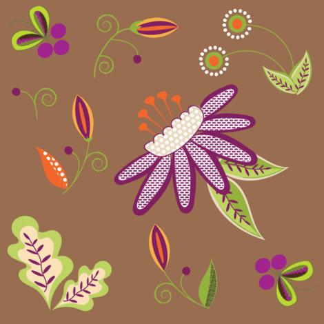 Alison's Dream Fantasy Flower fabric by vanillabeandesigns on Spoonflower - custom fabric