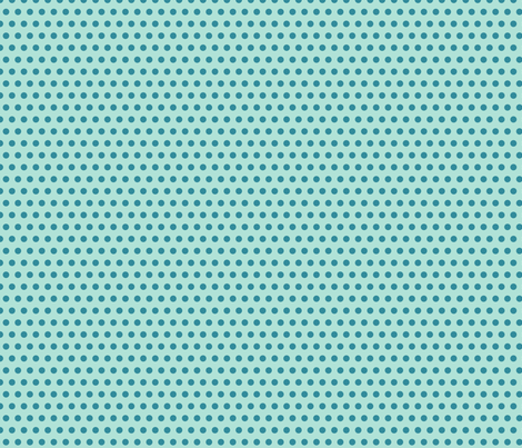 polka dot teal fabric by vickythorndale on Spoonflower - custom fabric