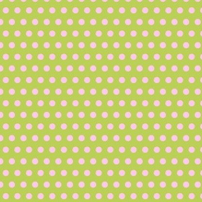 polka dot green