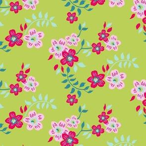 floral sprig green