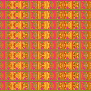 Orange and Hot Pink Geometric