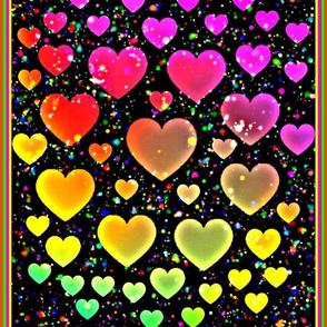 Hearts on a Black Light