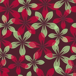 red and green flowers