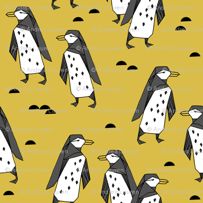 penguins //  penguin mustard yellow bird birds winter antarctic kids animals