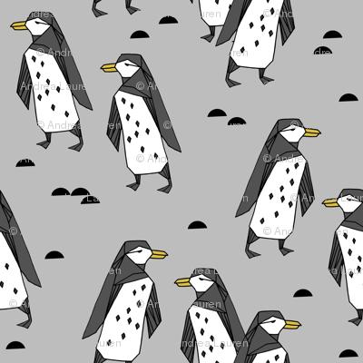 penguins // grey penguin antarctic bird birds winter