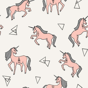 unicorn fabric - unicorn girls pink cute girls magical pink unicorn