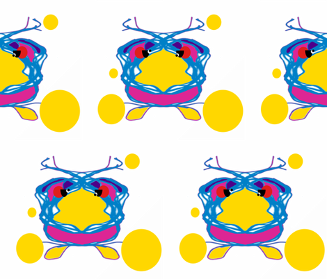 The Ball Bird fabric by anniedeb on Spoonflower - custom fabric