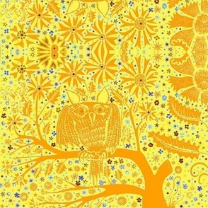 Owl Tree orange yellow