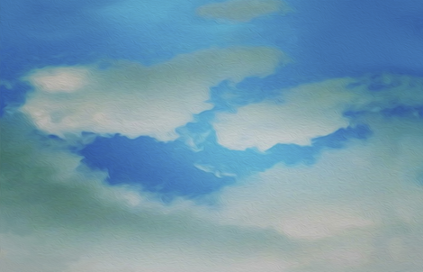 painted clouds fabric by nlsd on Spoonflower - custom fabric