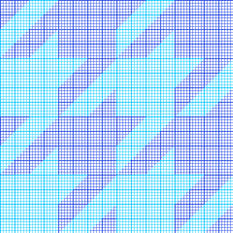 houndstooth graph paper (blues) fabric by weavingmajor on Spoonflower - custom fabric
