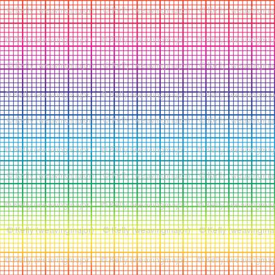 Rainbow Graph Paper Small Rainbow Fabric Weavingmajor
