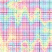 crazy rainbow graph paper