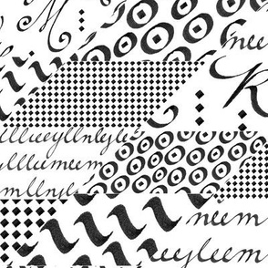 Calligraphy Elements Patchwork